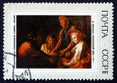 Postage Stamp Russia 1972 Peasants' Supper, By Mikhail Shibanov