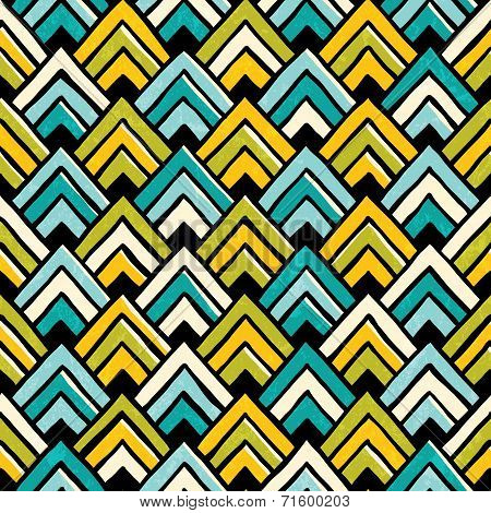 Hand drawn seamless colorful pattern.