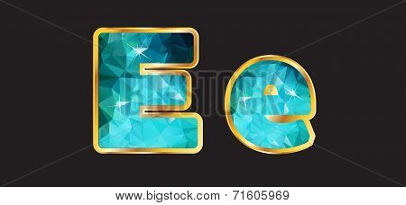 Ee With Gold And Teal
