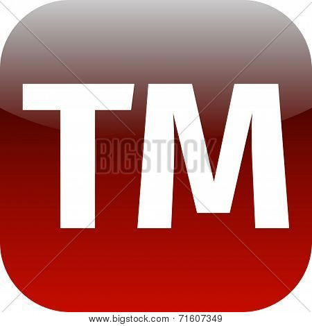 Text Tm Red Icon For App