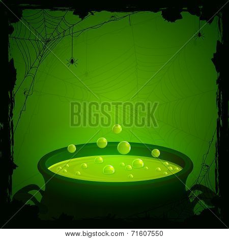 Halloween Background With Green Potion