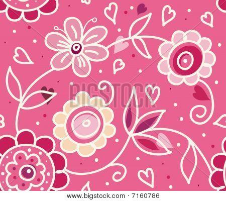 Stylish floral Valentine's Day pattern