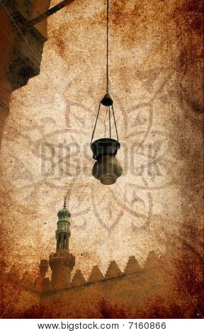 Grungy Islamic Lamp