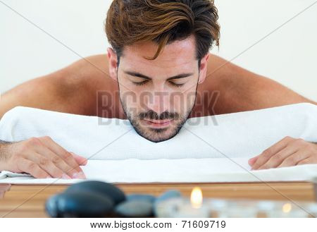 Masseur Doing Massage On Man Body In The Spa Salon.