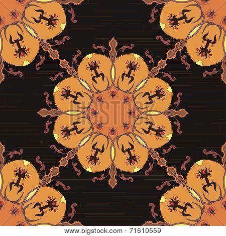 Ornamental round morocco seamless pattern. Orient traditional ornament. Oriental motif.RGB