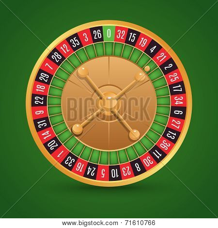 Realistic roulette isolated