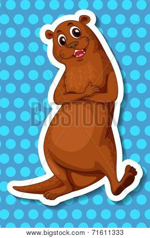 Illustration of a single otter
