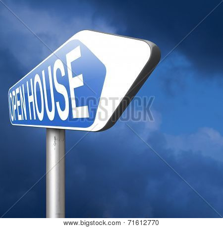 Open house  buy or rent a house before you visit the real estate or model house
