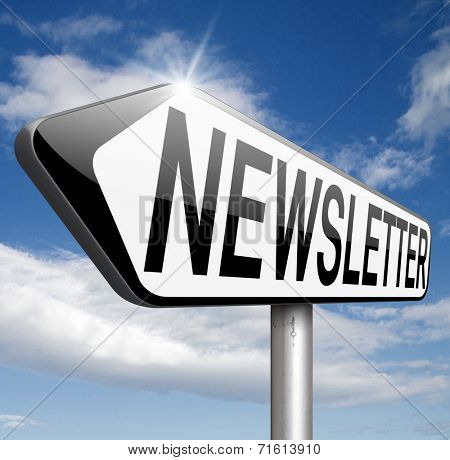 Latest news in newsletter with daily facts and latest hot items