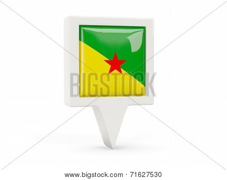 Square Flag Icon Of French Guiana