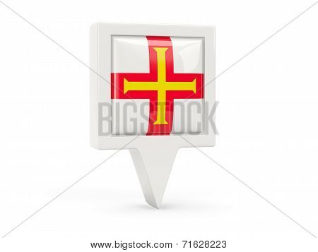 Square Flag Icon Of Guernsey