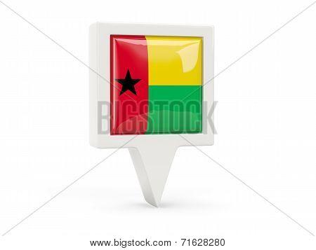 Square Flag Icon Of Guinea Bissau