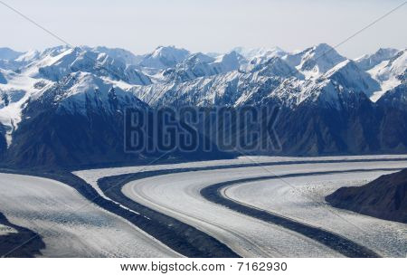 Glaciers At Kluane National Park, Yukon, Canada