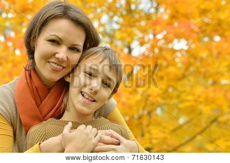 Beautiful mother with a son
