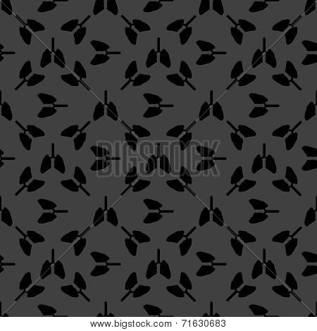 Human lung web icon. flat design. Seamless gray pattern.