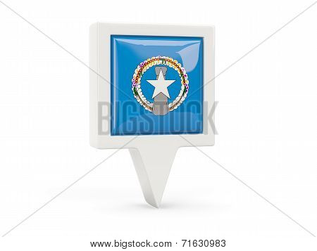 Square Flag Icon Of Northern Mariana Islands