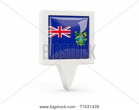 Square Flag Icon Of Pitcairn Islands