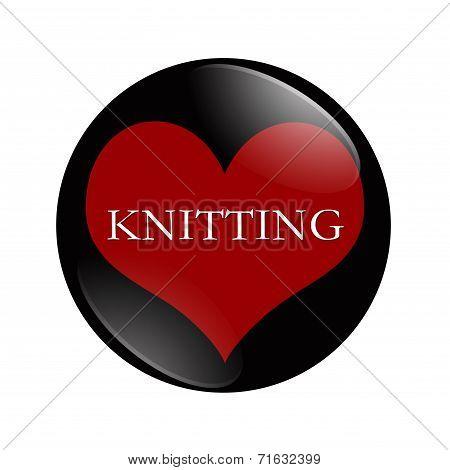 I Love Knitting Button
