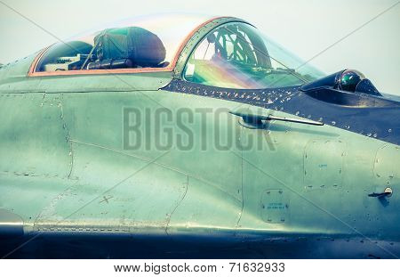 Airplane Mig-29 At Airshow