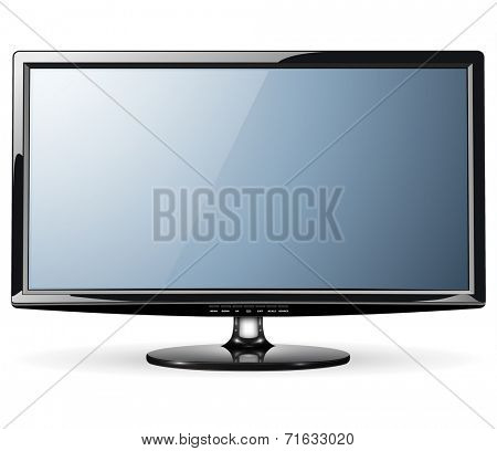 Monitor, led TV, vector illustration.