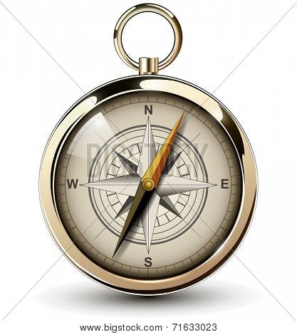 Compass with windrose. Vector Illustration.