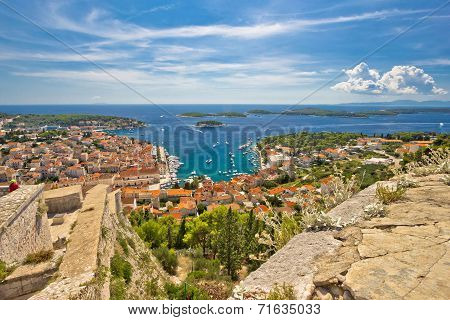 Town Of Hvar And Paklinski Islands View