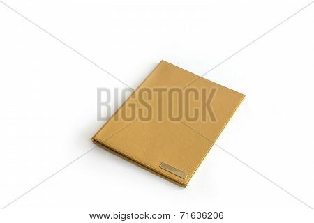 Brown Folder Isolated