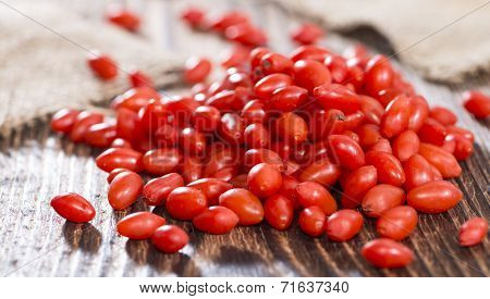 Portion Of Goji Berries (wolfberry)