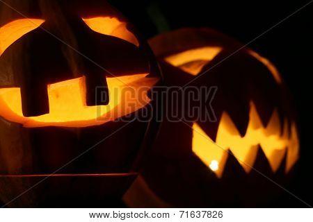Halloween pumpkins jack-o-lantern