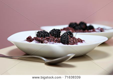 Blackberries smoothie