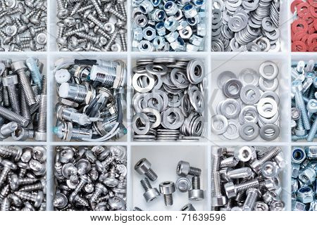 Different Parts Sorted In A Box