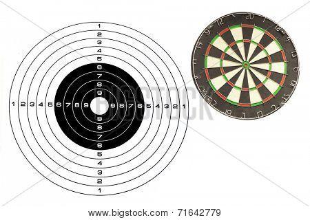 dartboard under the white background