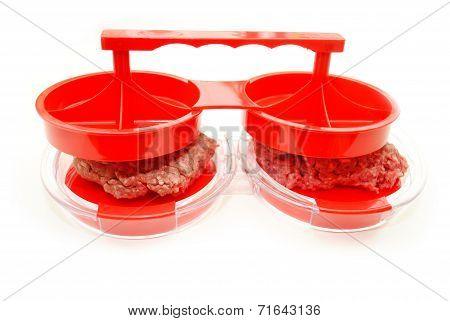 Pressing Ground Beef Into A Summer Hamburger