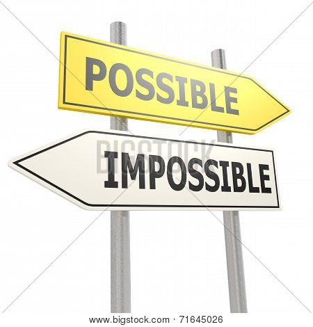 Possible Impossible Road Sign