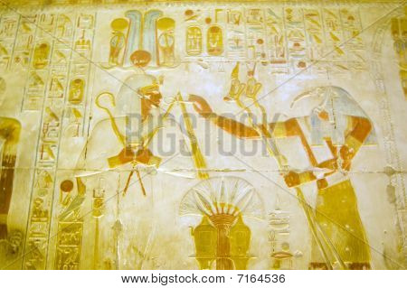 Egyptian gods Osiris and Thoth