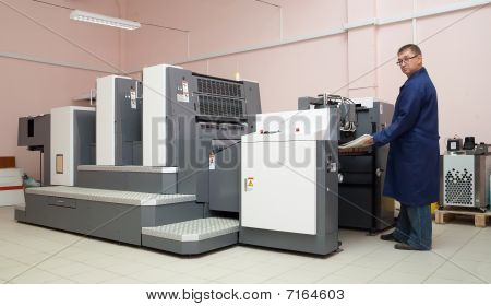 Working Offset Printer