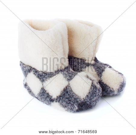 The Pair Of Warm Cozy Boots