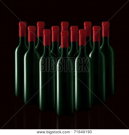 Bottles Of Wine In Rows