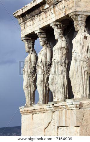 Erechtheum Is An Ancient Greek Temple In Acropolis