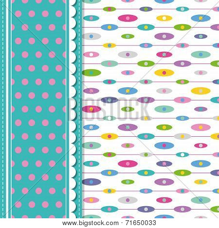 ellipses and polka dot greeting card
