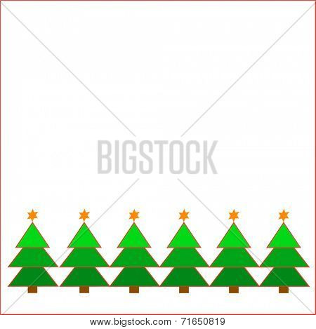 Christmas tree display on white background. Eps10 vector format.