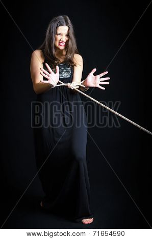 Girl With Bound Hands