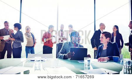Multiethnic Group of People Meeting in the Office