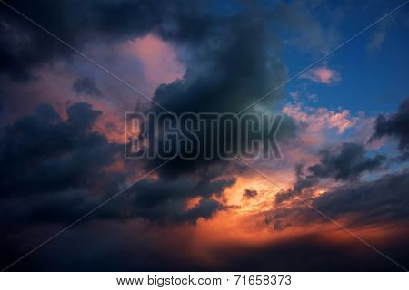 Apocaliptic Sunset Sky Background