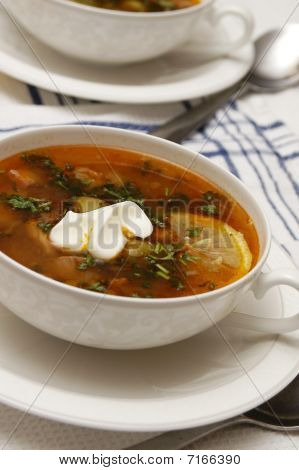 Tomato soup with olives