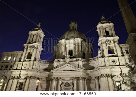 Sant Agnese In Agone On Piazza Navona