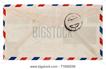 Vintage Airmail Envelope. Retro Post Letter