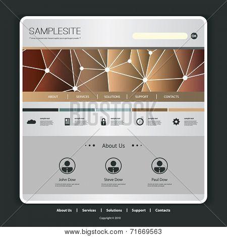 Website Template with Network Header  Design