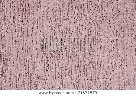 Violet Relief Plaster On Wall Closeup