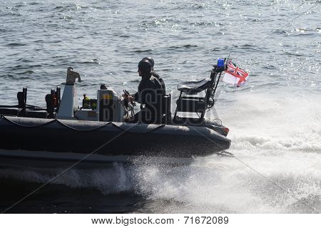 Mlitary speed boat